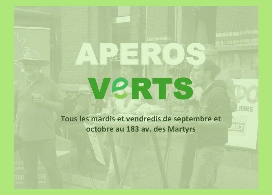 Apéros verts – Les rendez-vous de septembre et octobre