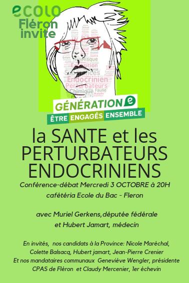 La santé et les perturbateurs endocriniens – conférence/débat