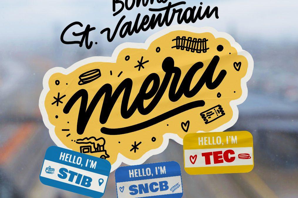 L'édition Saint-Valentrain 2021 les travailleurs et travailleuses des transports en commun à l'honneur.